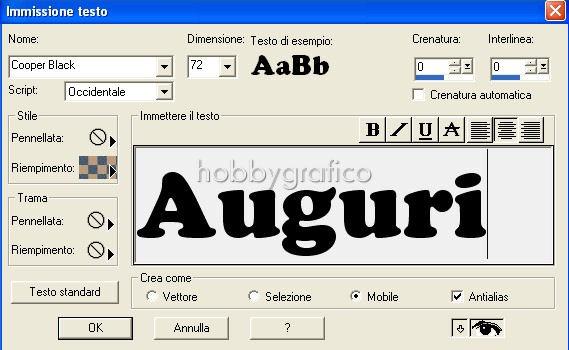 Modificare le lettere - Testo la finestra negramaro ...
